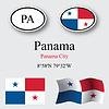 Vector clipart: panama icons set