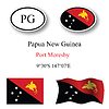 papua new guinea icons set
