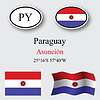 Vector clipart: paraguay icons set