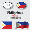 Vector clipart: philippines icons set