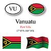 Vector clipart: vanuatu icons set