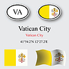 Vatican city icons set | Stock Vector Graphics