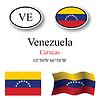 Vector clipart: venezuela icons set