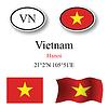Vector clipart: vietnam icons set