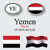 Vector clipart: yemen icons set