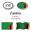 Vector clipart: zambia icons set