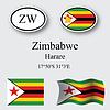 Vector clipart: zimbabwe icons set