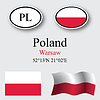 Vector clipart: poland icons set