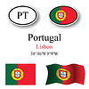 Vector clipart: portugal icons set