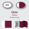 Vector clipart: qatar icons set