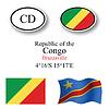 Vector clipart: republic of congo icons set