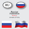 russian federation icons set