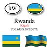 Vector clipart: rwanda icons set