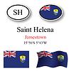 Vector clipart: saint helena icons set