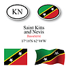 St. Kitts und Nevis-Icons Set