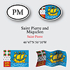 saint pierre and miquelon icons set