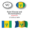 Vector clipart: saint vincent and greenadines icons set