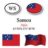 Vector clipart: samoa icons set