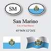 Vector clipart: san marino icons set
