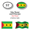 sao tome and principe icons set