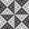 Vector clipart: seamless black and white pattern