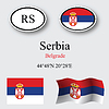 Vector clipart: serbia icons set