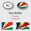 Vector clipart: seychelles icons set