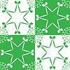 Vector clipart: shamrock pattern