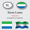Vector clipart: sierra leone icons set