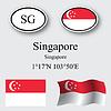 Vector clipart: singapore icons set
