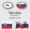 Vector clipart: slovakia icons set