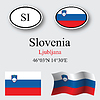 Vector clipart: slovenia icons set