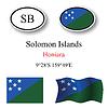 Vector clipart: solomon islands icons set