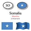 Vector clipart: somalia icons set