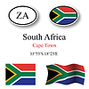Vector clipart: south africa icons set