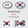 Vector clipart: south korea icons set