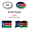 Vector clipart: south sudan icons set