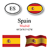 Vector clipart: spain icons set