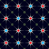 Vector clipart: stars pattern