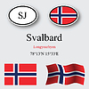 Vector clipart: svalbard icons set