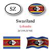 Vector clipart: swaziland icons set
