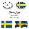 Vector clipart: sweden icons set