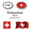 Vector clipart: switzerland icons set