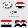 Vector clipart: syria icons set