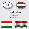 Vector clipart: tajikistan icons set