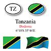 Vector clipart: tanzania icons set