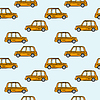 Vector clipart: taxi cars pattern