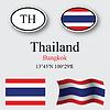 Vector clipart: thailand icons set