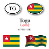 Vector clipart: togo icons set