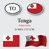 Vector clipart: tonga icons set